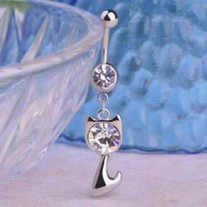 Jewelry - NWT Kitty Cat Stainless Steel Navel Belly Ring